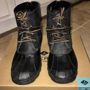 Sperry Saltwater Wedge Tide Boots. Women's size 7